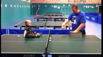 Baby Plays Ping Pong Really Well