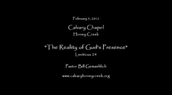 The Reality of God's Presence