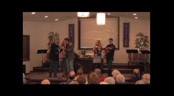 """Jesus On The Mainline""   Park Family Blue Grass Band, 02-12-12 FBC, Caney"