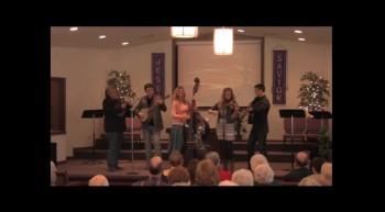 """Blue Grass In The Church""  Park Family Bluegrass Band, 02-12-12,   FBC, Caney, KS"