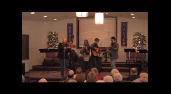 """""""On A High, High Mountain""""  Park Family Blue Grass Band, 02-12-12,  FBC Caney, KS"""