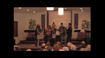 """""""Violin Trio""""   02-12-12  Park Family Blue Grass Band,  FBC Caney, KS"""