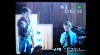 Justin Cummings and Drew Ansley singing Savior of the World