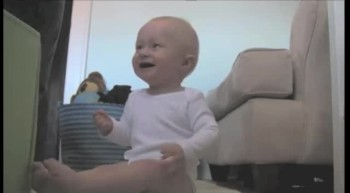 Baby Laughs Hysterically
