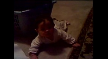 Zoe learning to crawl