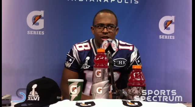 Sports Spectrum TV - New England WR Matthew Slater