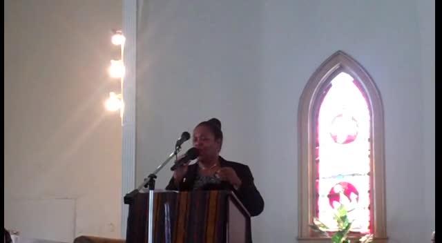 Minister Pam Hunter