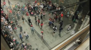 Sydney Easter Parade Flash Mob at Pitt St Mall