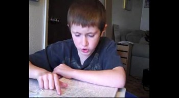 My seven year old son reading Isaiah 53 from the KJV Bible