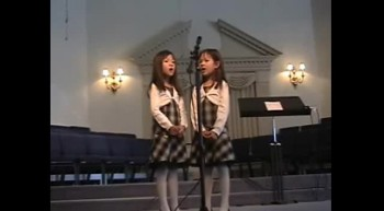 7 Year Old Twins Sing Amazing Grace