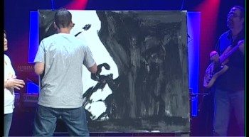 Jesus Painting Easter 2011 - Lance Brown - Painted Christ