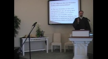 "Catechism: ""Capital Punishment,"" Rev. R. Scott MacLaren, First OPC Perkasie, PA 4/15/12"