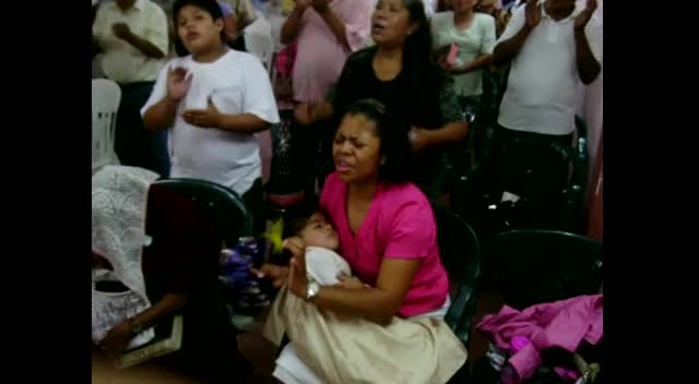 Worship in Veracruz Mexico