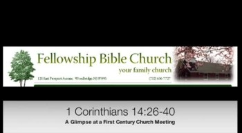 A Glimpse at a First Century Church Meeting