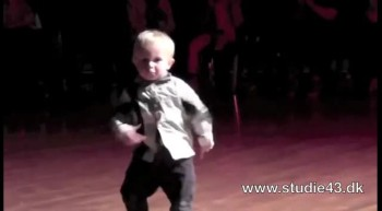 Adorable 2 year-old dancing the jive