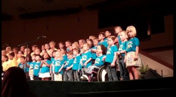 PreK Choir: He Did It!