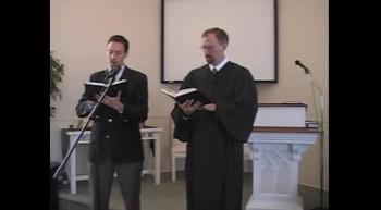 """Hymn: """"Jesus, Lover of My Soul."""" Waggoner & MacLaren, First OPC Perkasie, PA 4/29/12"""