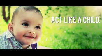 Encourage your friends to act like a child, trust god, and enjoy life. Share this video.