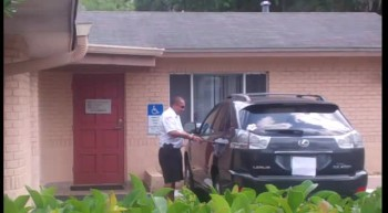security guard moves abortionist vehicle
