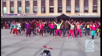Shine Generation flashmob on 8th of April 2012 in Tallinn, Estonia.