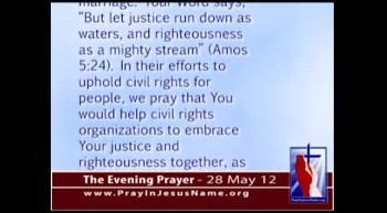 The Evening Prayer - 28 May 12 - Black Pastors Oppose NAACP's Support for Homosexual Marriage