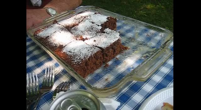 Memorial Day (I made a amish choclate cake from scratch!)