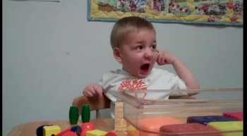 2 Year Old Hears Mommy's Voice For The First Time - ADORABLE Reaction