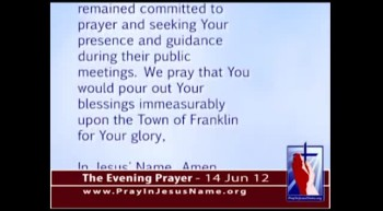 The Evening Prayer - 14 Jun 12 - Vermont Court Allows Prayer before Town Meetings