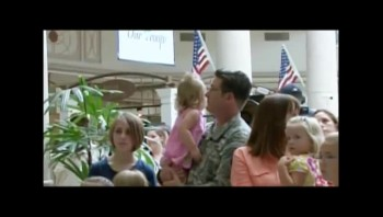 Singing Flash Mob Overwhelms Soldier Father