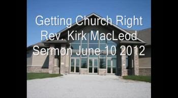 Getting Church Right