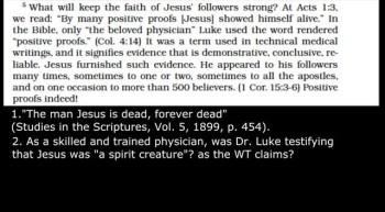 Watchtowers Convincing Proofs NOT CONVINCING!