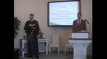 "Congregational Hymn: ""Leaning on the Everlasting Arms"" First OPC Perkasie, PA 6/24/12"
