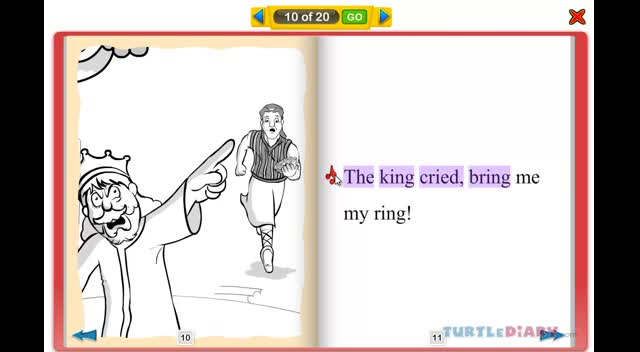 The King and The Ring - Rhyming Stories for Kids at www.turtlediary.com