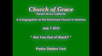 Church of Grace Sermon from July 1 2012.