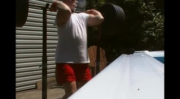 50 year old Christian man front squats 364