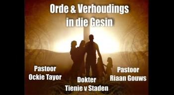 Soteria - Orde & Verhoudings in die Gesin