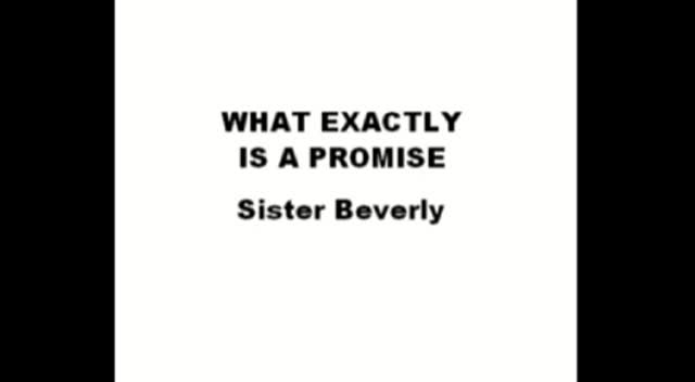 WHAT EXACTLY IS A PROMISE