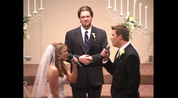 Bride  Groom Sing When God Made You to Each Other - Beautiful Moment!