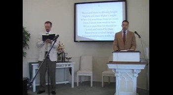 "Congregational Hymn: ""Lord, Our Lord, Thy Glorious Name,"" First OPC Perkasie, PA 7/08/12"