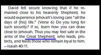 WHO is MY Shepherd?