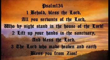 Psalm 134 Scripture Song - Behold, Bless the Lord