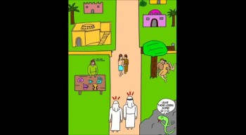 The Cartoon Bible featuring Crafty the Serpent