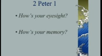 How is Your Eyesight and Your Memory? - 4/22/2012