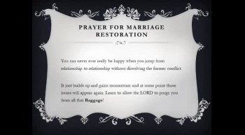 Marriage Links - Prayer For Marriage Restoration - By DeBorrah K. Ogans