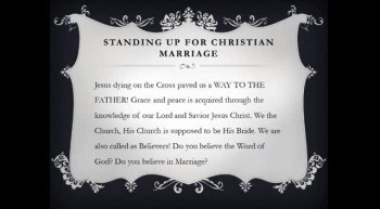 "Marriage Links - ""Standing Up For Christian Marriage"""