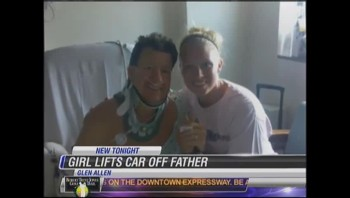 WOW! Girl Lifts Car to Save Her Dad's Life!