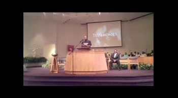Lamont Carey in the pulpit