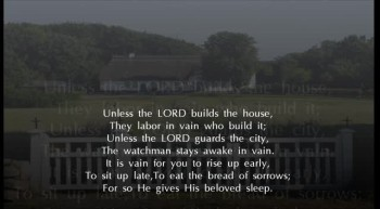 "Psalm 127 NKJV Scripture Song ""Unless the LORD Builds the House"""