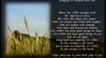 "Psalm 126 NKJV Scripture Song ""Those Who Sow in Tears Shall Reap in Joy"""