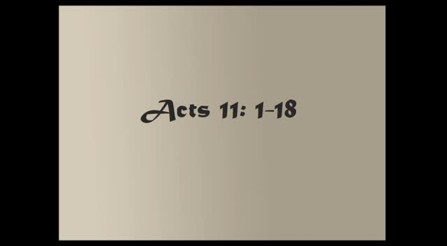 Acts 11: 1-18
